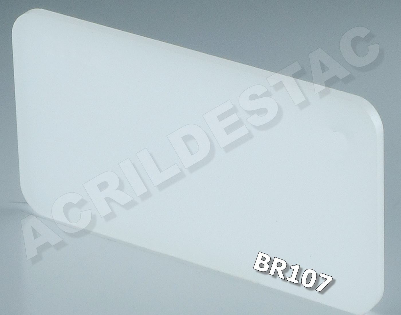 0.50 x 1 metro - 2mm - BRANCO Translúcido PL-BR107 -