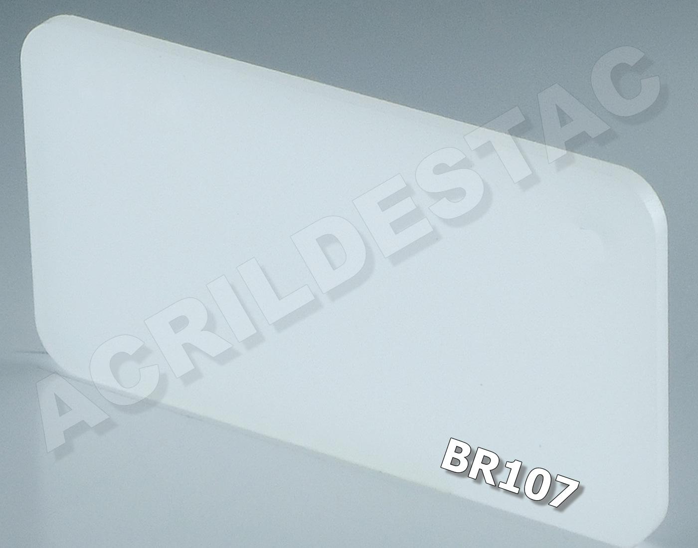 0.50 x 1 metro - 4mm - BRANCO Translúcido PL-BR107 -