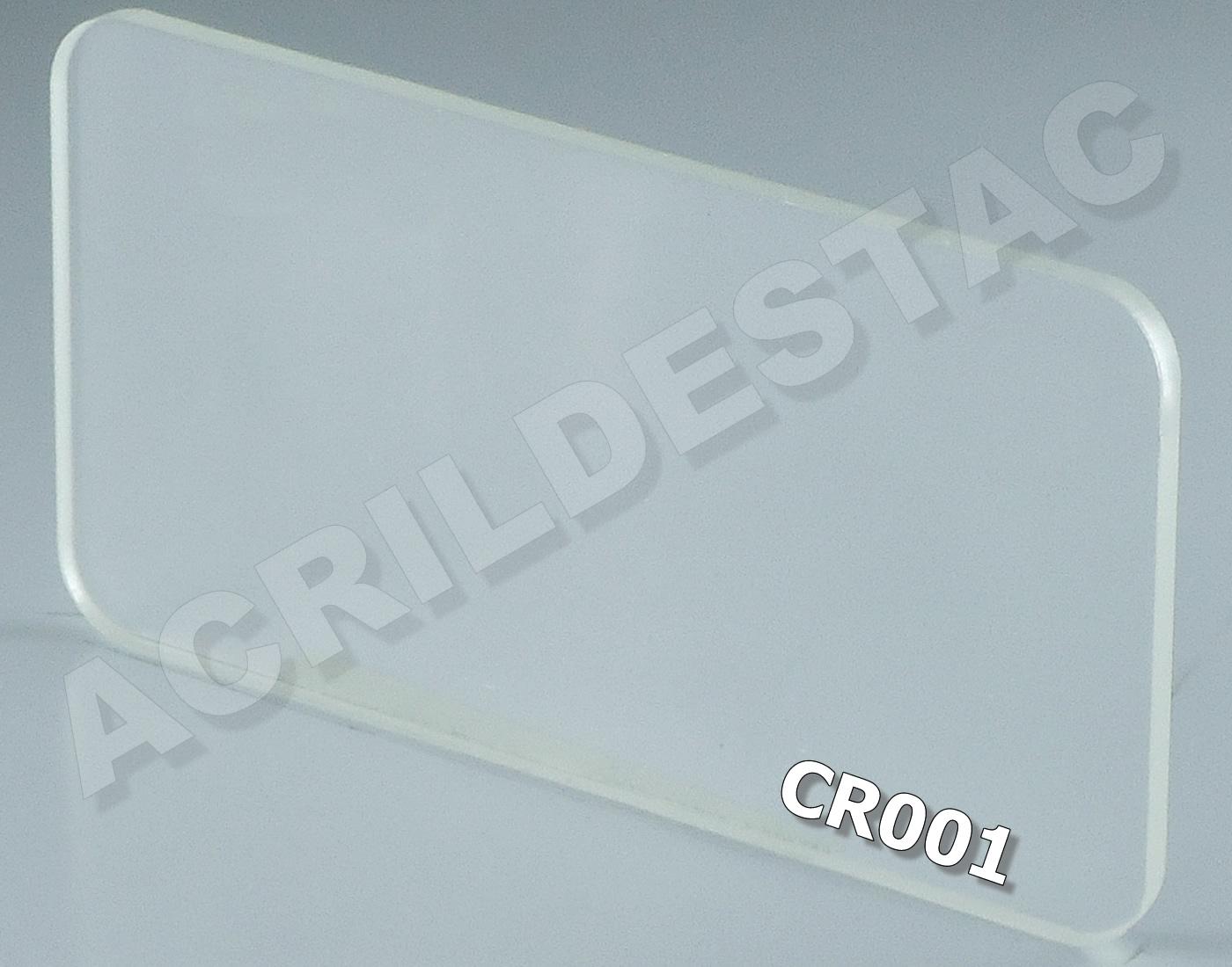 1 x 1 metro - 4mm - CRISTAL Transparente PL-CR001 -