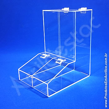 Baleiro de acrilico cristal duplo 30cm Alt