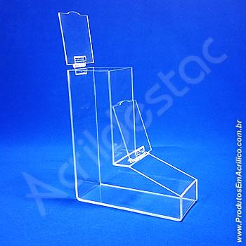 Baleiro de acrilico cristal individual 30cm Alt