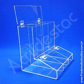 Baleiro de acrilico cristal triplo 30cm Alt
