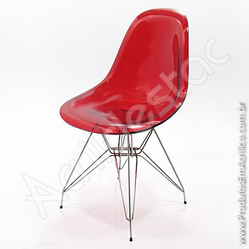 Cadeira em acrílico Charles com Base Fixa