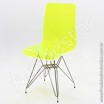 Cadeira em acrílico Elegance com Base Fixa