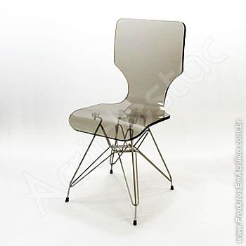 Cadeira em acrílico Favorita com Base Fixa