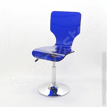 Cadeira em acrílico Favorita Giratória Base Disco
