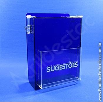 Caixa de Sugestões Azul 20 cm Altura
