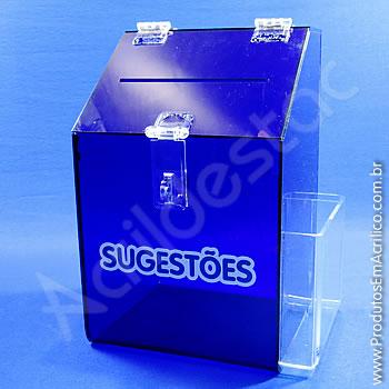 Caixa de Sugestões Azul 25 cm Altura