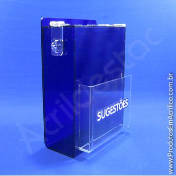 Caixa de Sugestões Azul 33 cm Altura