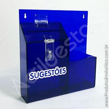 Caixa de Sugestões Azul-Bic 24,5 x 24,5 cm