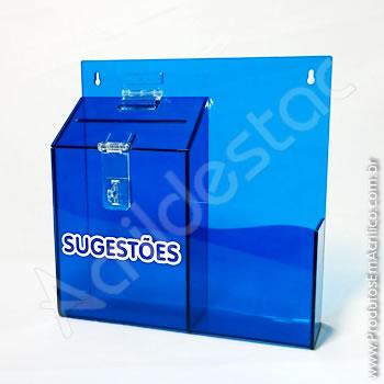 Caixa de Sugestões Azul-Cobalto 24,5 x 24,5 cm