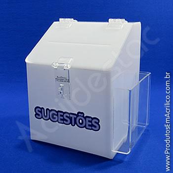 Caixa de Sugestões Branca  20 cm Altura