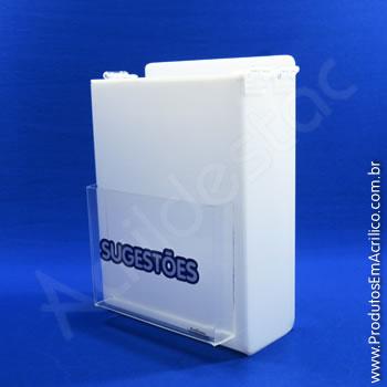 Caixa de Sugestões Branca 24 cm Altura