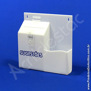 Caixa de Sugestões Branca 24,5 x 24,5 cm