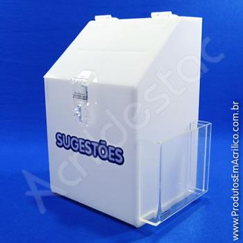 Caixa de Sugestões Branca 25 cm Altura