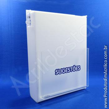 Caixa de Sugestões Branca 33 cm Altura