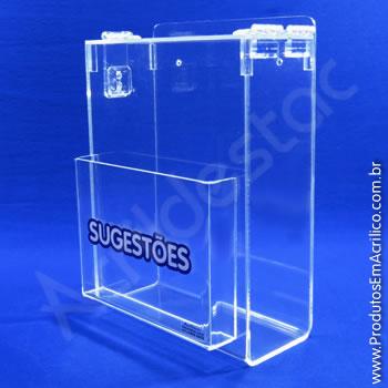 Caixa de Sugestões Cristal 24 cm Altura