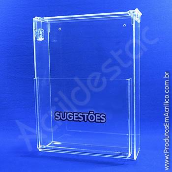 Caixa de Sugestões Cristal 33 cm altura