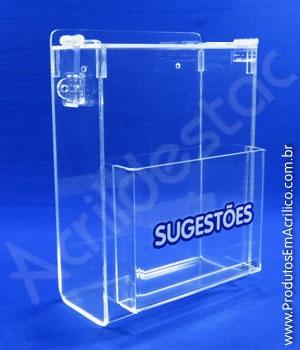 Caixa de Sugestões Cristal 20 cm Altura