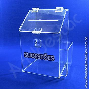 Caixa de Sugestões Cristal 25 cm Altura