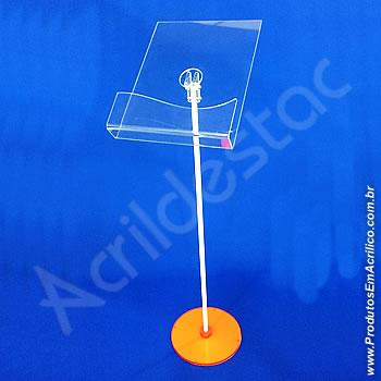 Display de Chão Acrilico Caixa Porta Folheto Vertical inclinado