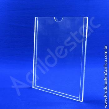 Display em acrílico Cristal com Borda em acrílico Cristal para parede