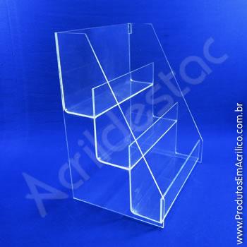 Expositor em formato Escadinha com 3 degraus