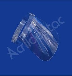Mascara Facial Viseira de Petg cristal Ajustável Face Shield Escudo Protetor Produtos acrilico