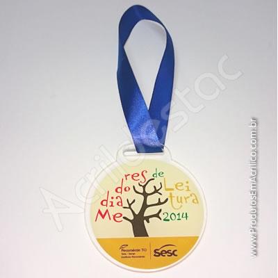 Medalha em Acrílico Redonda