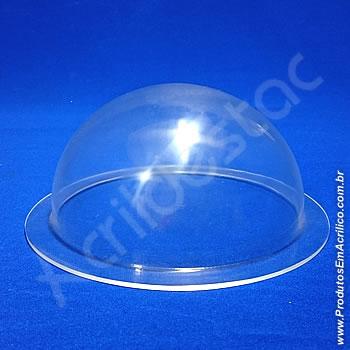 Meia cupula de acrilico Cristal 15cm Diam x 7,5cm Alt