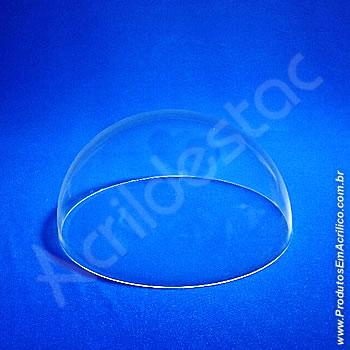 Meia Cupula de acrílico Cristal 20cm Diam x 10cm Alt