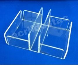 Porta Sachê em acrilico cristal Medindo: 11,5cm largura X 15cm profundidade X 7,5cm altura X 3 mm espessura