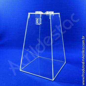 Urna de acrílico Cristal 20cm alt Piramidal