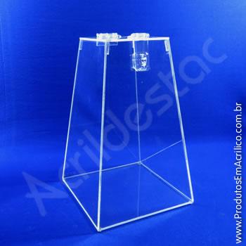 Urna de acrílico Cristal 40cm alt Piramidal
