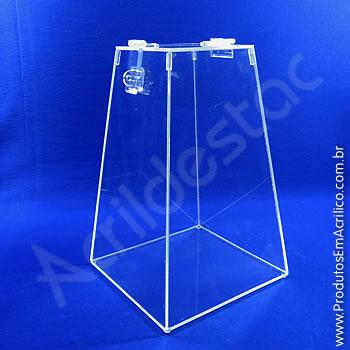 Urna de acrílico Cristal 50cm alt Piramidal
