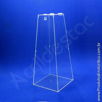 Urna de acrílico Cristal 60cm alt Piramidal