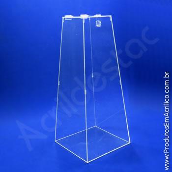 Urna de acrílico Cristal 75cm alt Piramidal